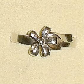 Zilveren teenring egaal zilver
