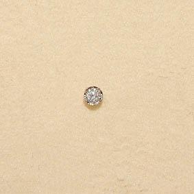Witgouden neuspiercing met diamant