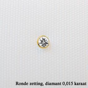 gouden neuspiercing met diamant